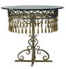 Elegant Iron Made Round Shape Coffee Table, Delicate Home Decorative Iron Art Furniture