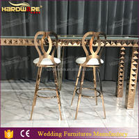 commercial stainless steel bar stools with cushion
