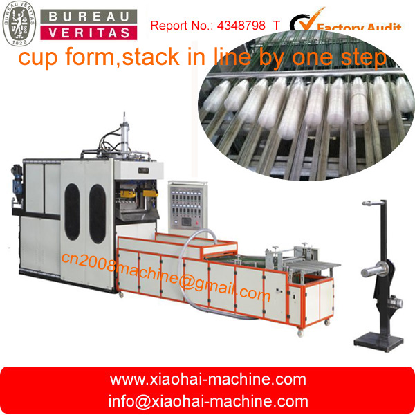 automatic plastic cup stacking machine