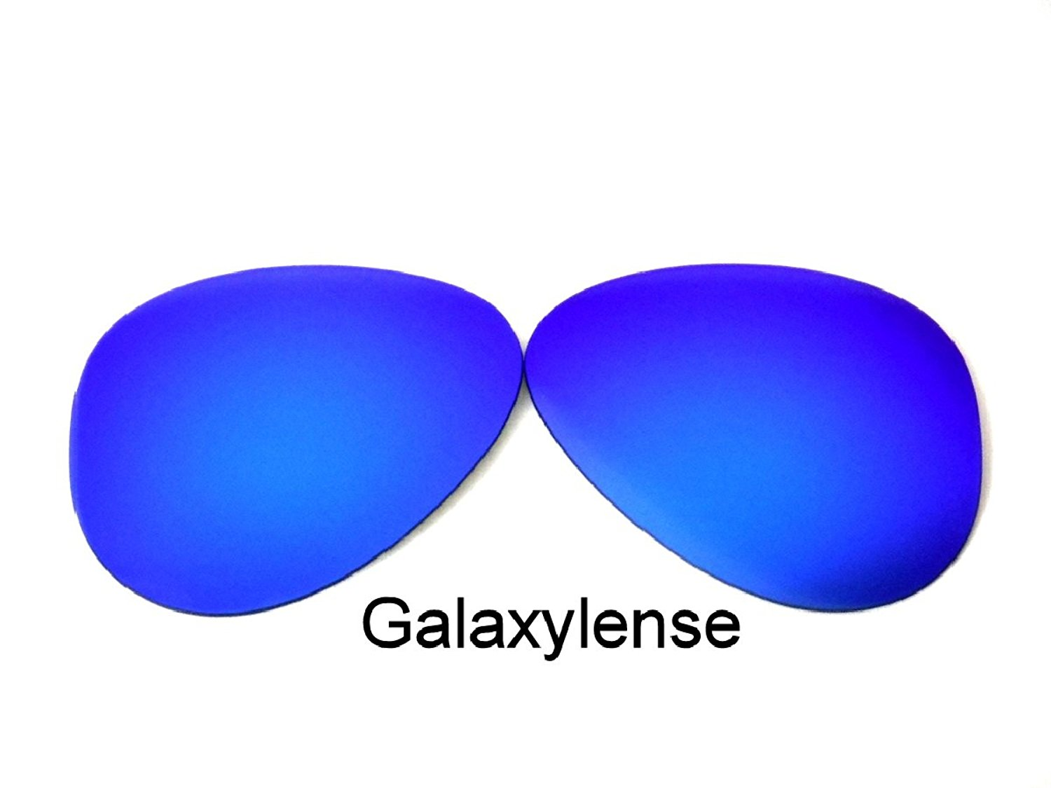 6cae05c552 Get Quotations · Galaxy Replacement Lenses For Ray-Ban RB3025 Blue 62 mm  Polarized