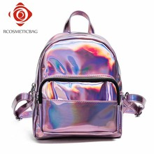 Top Popular Pink Mini Holographic Backpack in 2017