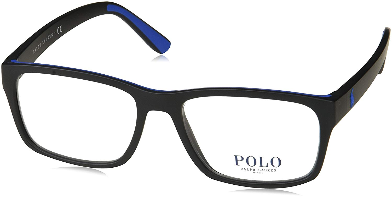 26bc9e5539b0 Get Quotations · Eyeglasses Polo PH 2172 5629 MATTE BLACK RUBBER ROYAL BLUE