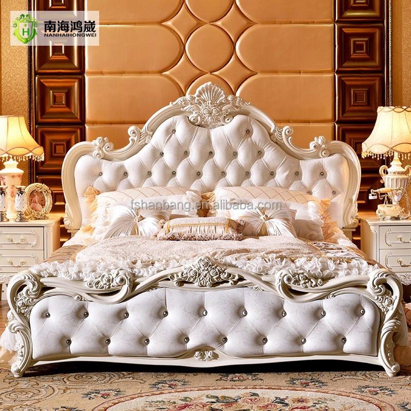 Classico di lusso king size in legno mdf royal barocco in stile francese mobili camera da letto - Mobili in stile francese ...