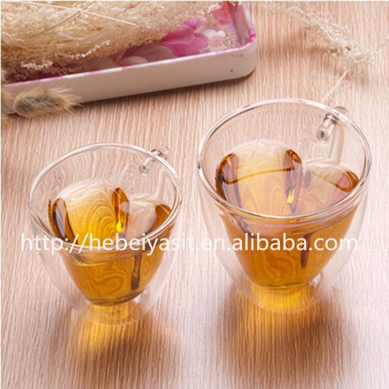Wholesale Yasit 240 Ml Love Heart Shaped Clear Drinking