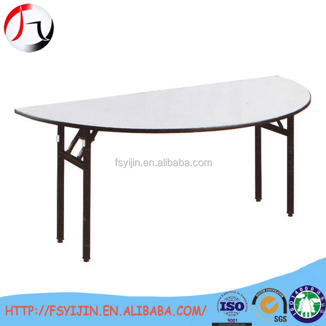 Merveilleux Half Round Semicircular Folding Table For Hotel Supply