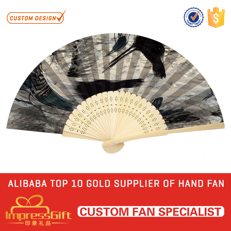 OEM handmade chinese personalized hand fan for gift