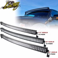 Super Slim 500W 52inch 4 optical Lens Curved CE ROHS LED Light Bar with Waterproof