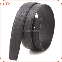 Top quality genuine leather exotic ostrich belt