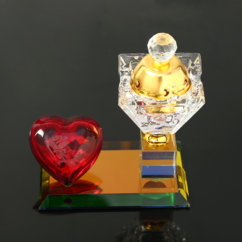 Hot gift acrylic electronic mini incense burner with red heart decoration