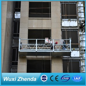 High Quality Window Cleaning Good Zlp250 Bridge Working Platform with Rope Suspended