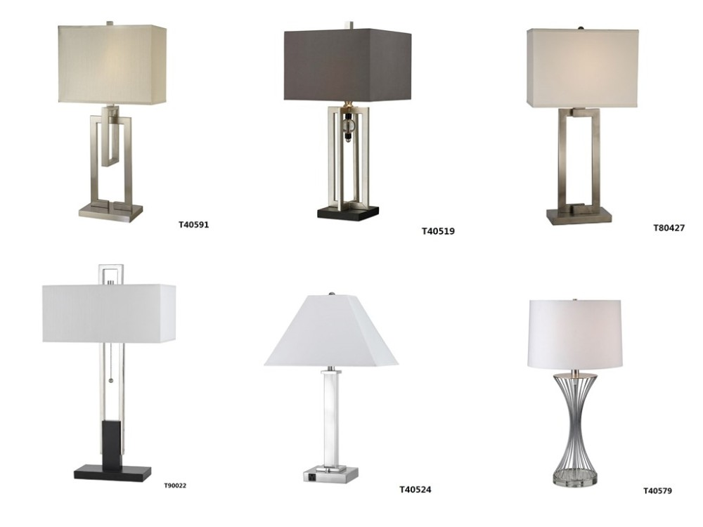 Ul Cul Listed Modern Hotel Bedroom Table Lamp With Base