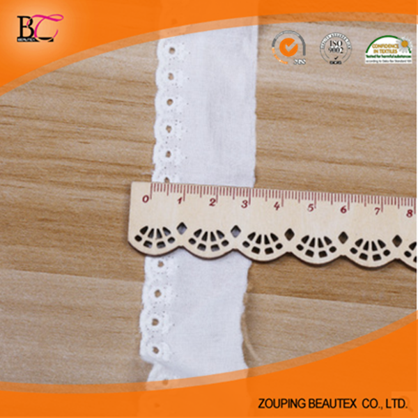 Manufacturers wholesale white cotton embroidery lace