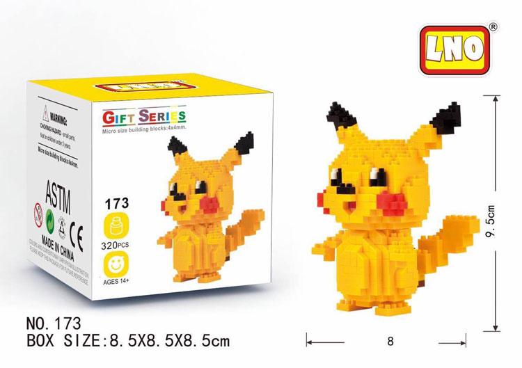 16 Pokemon Go Set POKEMON Mini Figuren PIKACHU Baustein Spielzeug