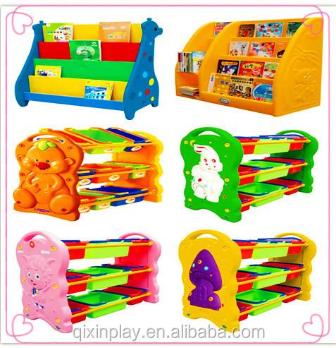 Beautiful Best Material Preschool Furniture Kids Plastic Toy Storage  Cabinet Children Bag Cabinet For Sale QX