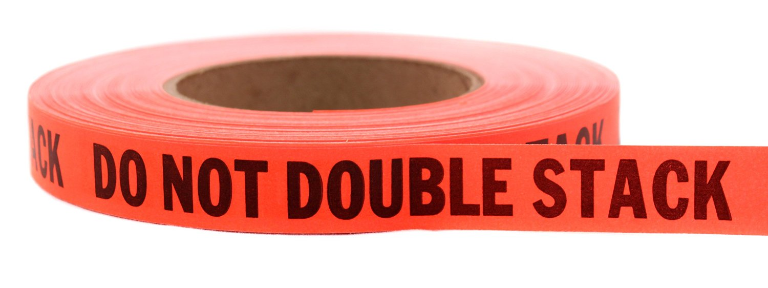 "48 Roll Case: ""DO NOT DOUBLE STACK"" Continuously Imprinted, Removable-Adhesive Tape 