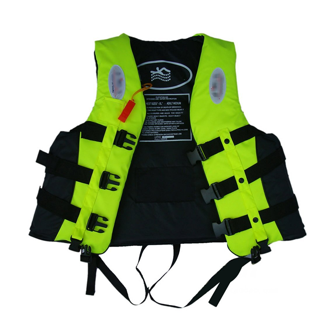 BAITER Leader Internation Life Vest with Whistle, Buoyancy Aid for Adult, Buoyancy Vest, Kayaking Foam Life Jacket for Watersport