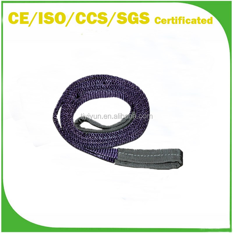 Double eye 1 Ton purple Color Polyester Flat Lifting Textile Webbing Sling