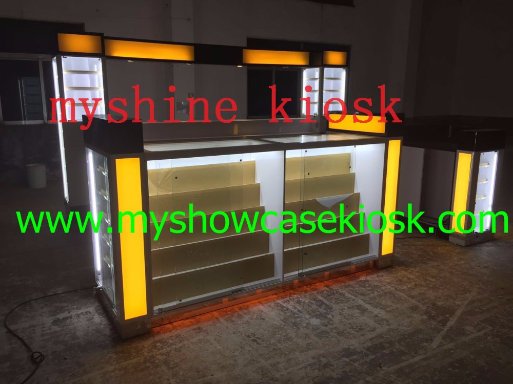 Modern style mall eyebrow threading kiosk for sale