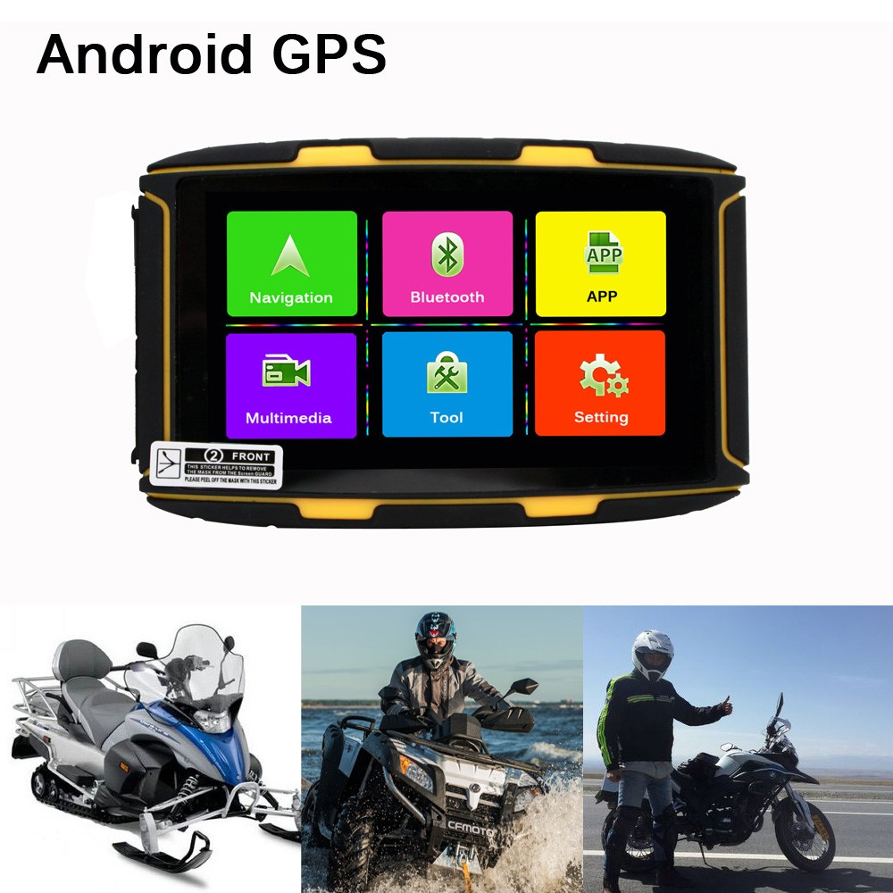5 inch Android GPS motorcycle / bike /Snowmobiles golf carts /ATVs GPS navigator waterproof GPS