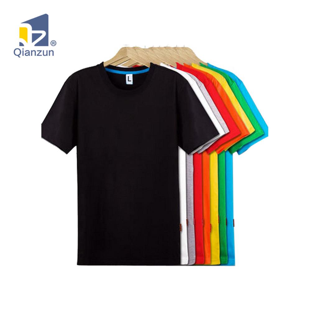 Wholesale Custom Logo Tshirt Men Basic Plain 100 Cotton Short