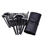 Professional Make Up Brush Set With Bag Case Black Private Label Cosmetic Makeup Brush Set 32 Piece