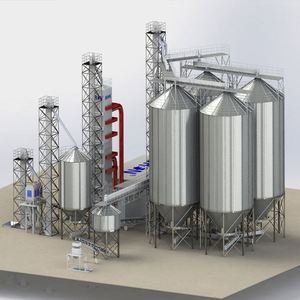 Assemble Bolted Flat Bottom Hopper Bottom Used Farm Grain Silo for sale
