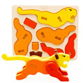 Dimensional Puzzle DIY Wooden Animals Small Animal 3D Puzzle Model Educational Toys For Children