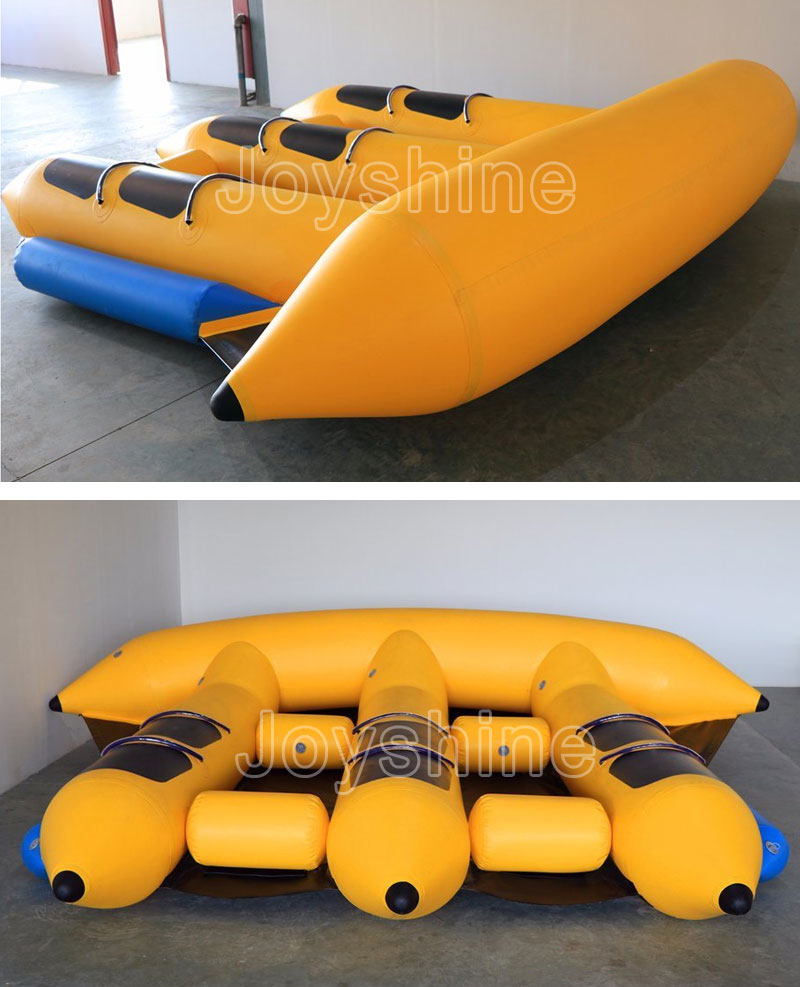 Custom 4 5 6 8 10 12 Seats Green Flyfish Boat Towable PVC Material Inflatable Flying Fish Towable On Sea
