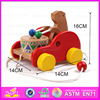 2016 Most popular pull back car , Kids Wooden drag toy , Hot sale item kids wooden toy car W05B093