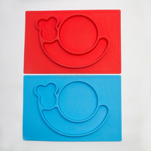 4 Pcs Silicone Place Mats Waterproof Baby / Kid / Children Diner Portable Table Mat Meal Mat