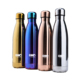 GV003 500ML/17OZ In Stock Double Wall electroplate shiny rainbow Stainless Steel cola shaped Vacuum Insulated bottle thermos