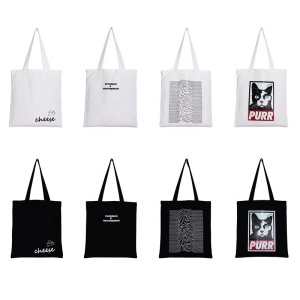 Promotional new ladies custom print canvas bag cotton canvas tote