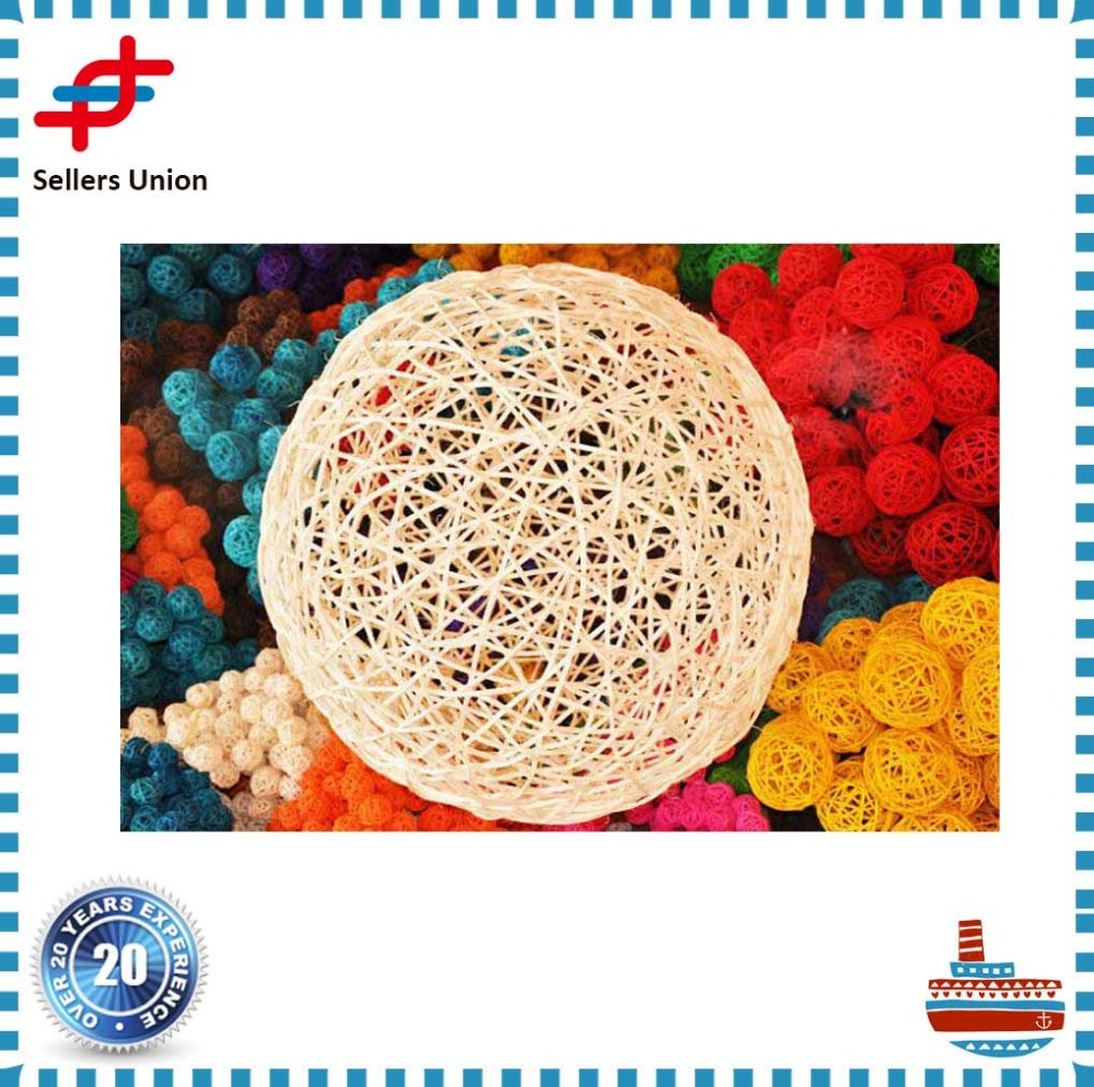 Colorful Rattan Ball Decoration and vine ball for wedding party decoration