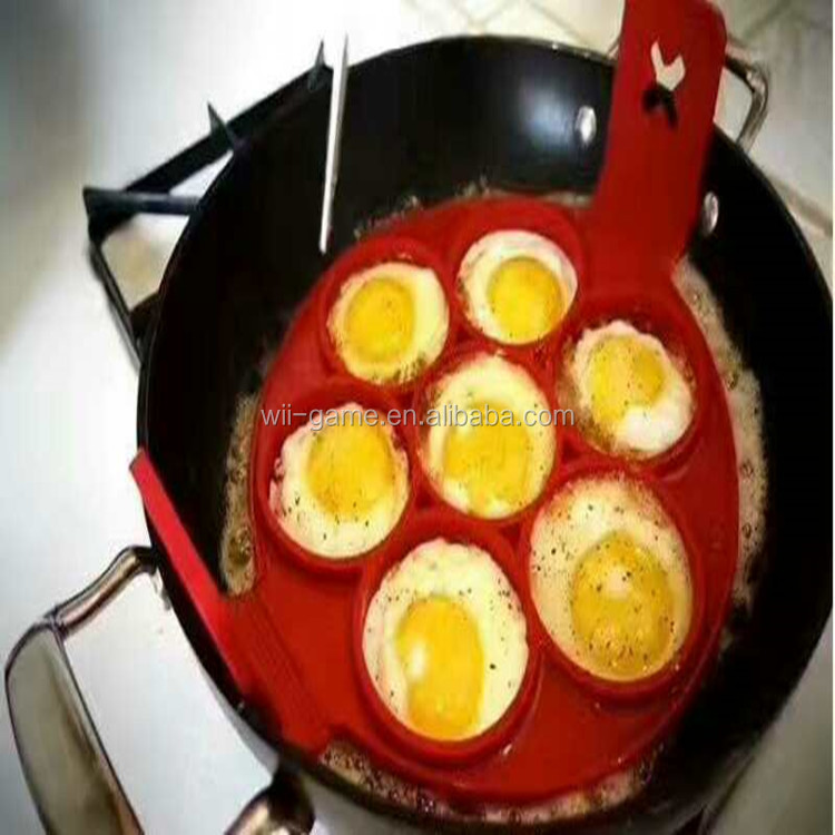 Fantastic Pancake Pan Eggs Omelette Tools Round Shaped Egg Rings Seven Hole Tools