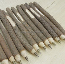 Promotional Wooden ball pen,twig pen,recycled pen