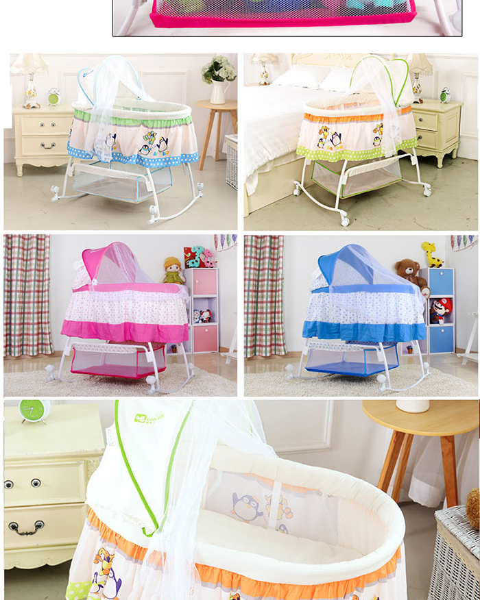 China Manufacturer 2015 New Portable Baby Cradle With Mosquido Net ...