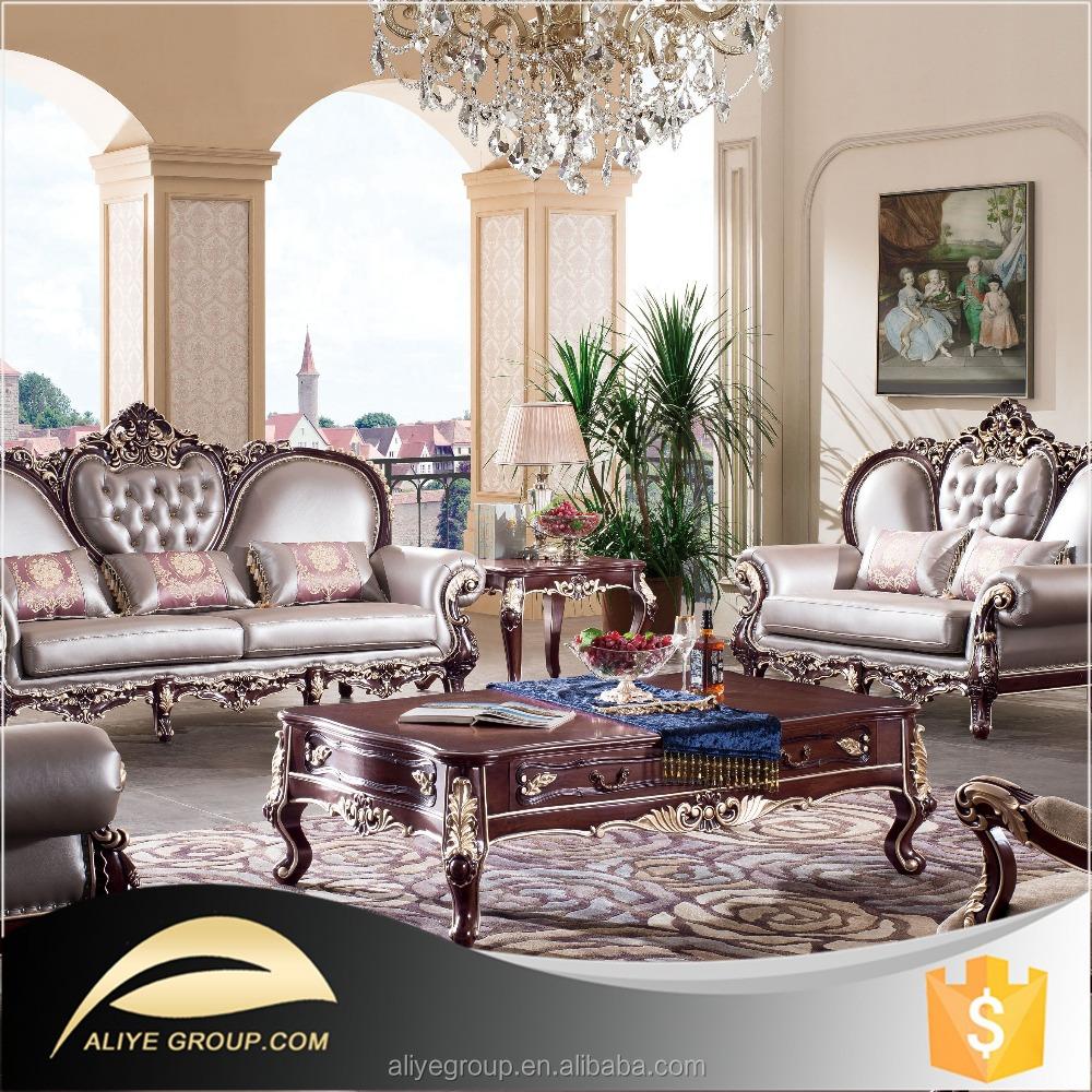 Royal Furniture Living Room Sets Luxury Royal Gold Leaf Sofa Sets Luxury Royal Gold Leaf Sofa Sets