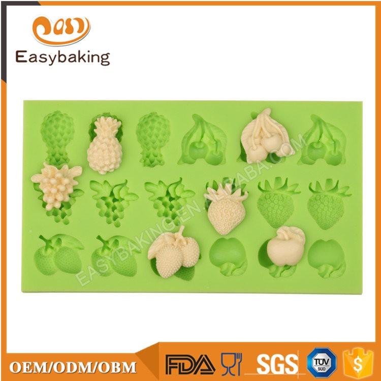 ES-4507 Fruit Shape Silicone Fondant Cake Decorating Mold