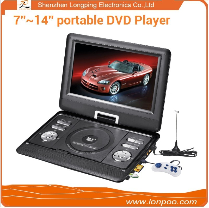 10.1 inch laptop portable DVD player supporting FM/USB/TV/TFT screen multimedia portable DVD player