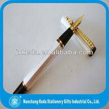Deluxe Golden Style,classical Chinese dragon clip polygon Elegant ivory white fat fountain pen