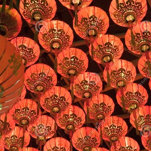 High selling decoration hanging Chinese paper fabric lanterns
