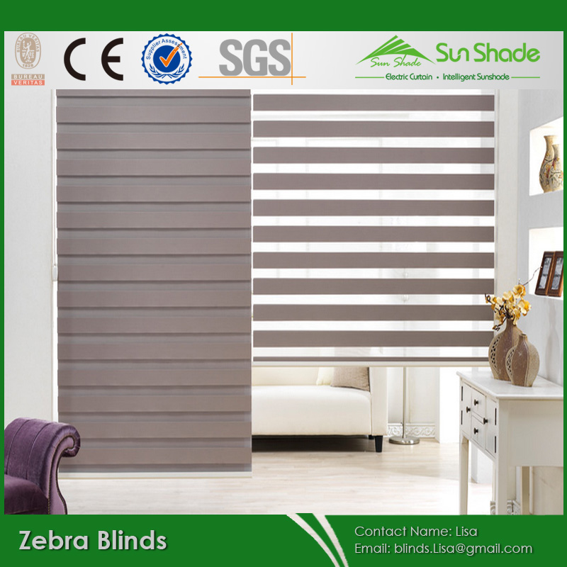 New home indoor dia noite zebra cortinas de rolo janela for Tende night and day