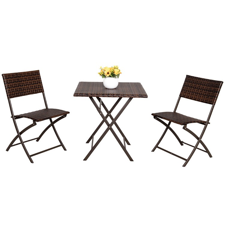 Miraculous 3 Pc Outdoor Folding French Rattan Wicker Bistro Table Chairs Sets Buy French Bistro Rattan Chairs French Bistro Table Sets 3 Pc Rattan Bistro Table Best Image Libraries Weasiibadanjobscom