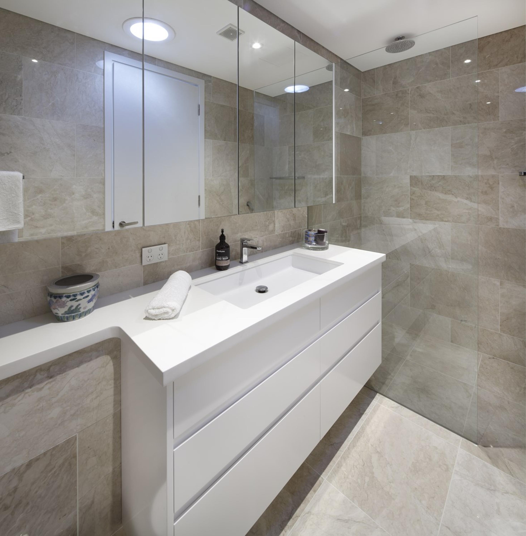 Baños De Diseño Moderno   2018 Diseno Moderno Custom Blanco Lacado Gabinete De La Vanidad Bano