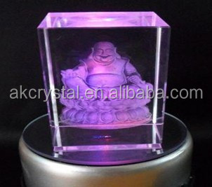 Crystal block & cube trophy type, customized logo engraved cheap christian gifts 3d laser crystal