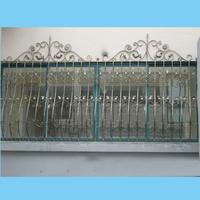 Last China factory handmade forging wrought iron window design