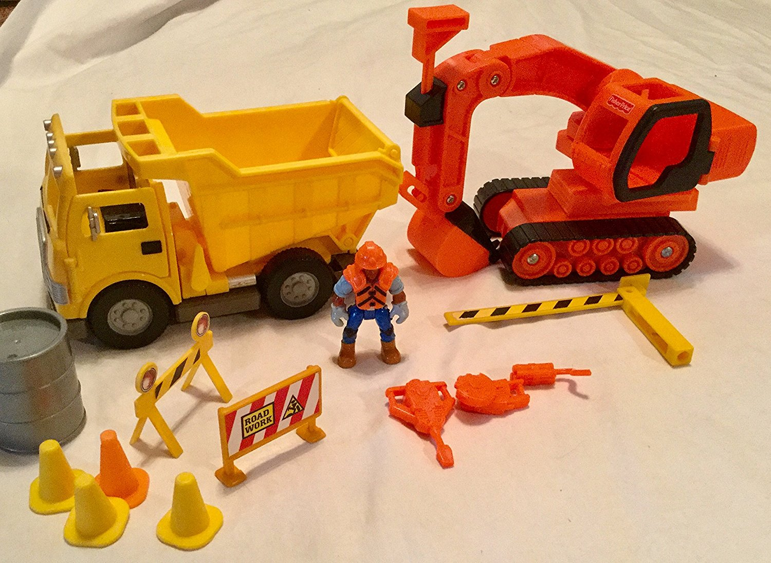 Fisher Price, Imaginext Construction Site #78330. 2002 (Incomplete, see description & photos)