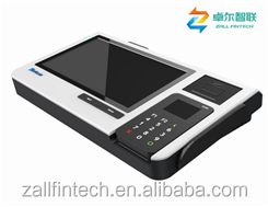 Android 5.1 OS All in one POS terminal with NFC Magcard Smart card/fingerprint reader