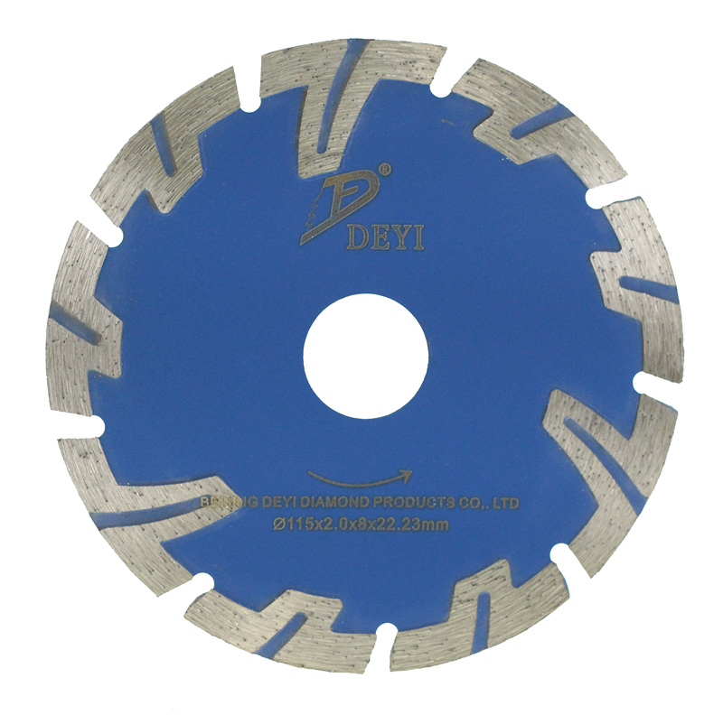 5 Inch Premium Granite turbo T-segmented diamond cutting saw blade 125mm with Pro-Teeth Protection