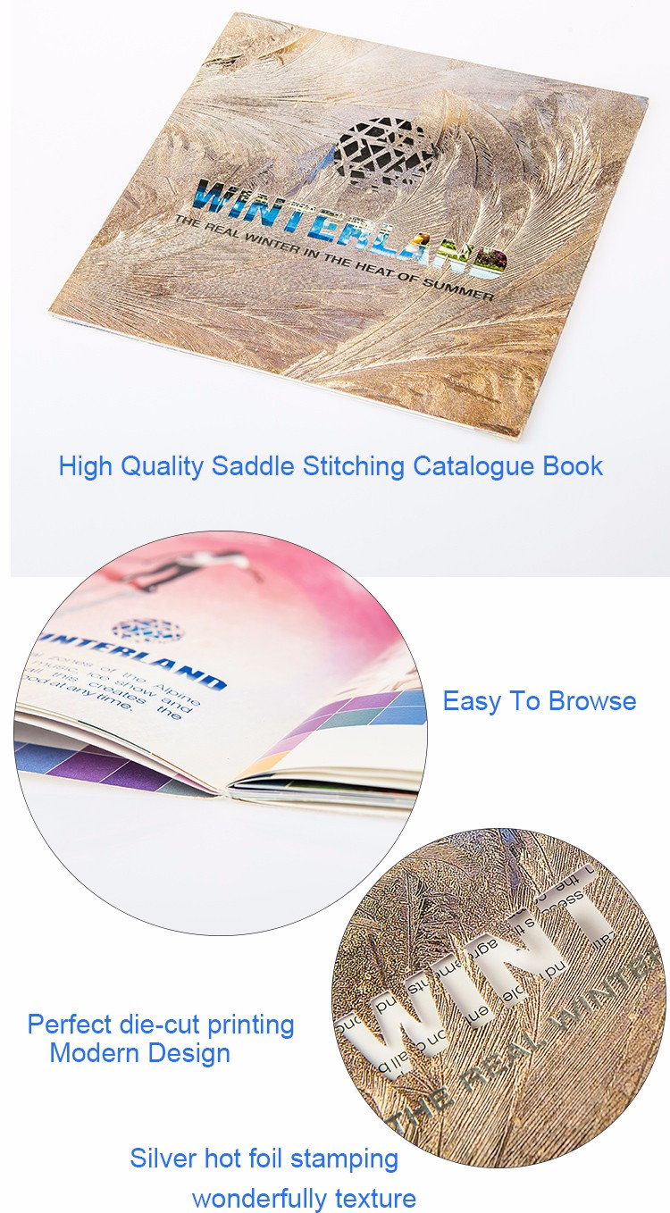 Top design cheap price good quality luxury company brochures colorful magazine catalogue printing with die-cut